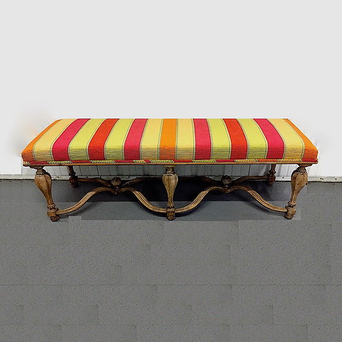 "Italian ""Pavia"" Upholstered Bench by Decorative Crafts Inc."