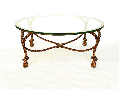 SOLD: Gilt Rope & Tassel Coffee Table