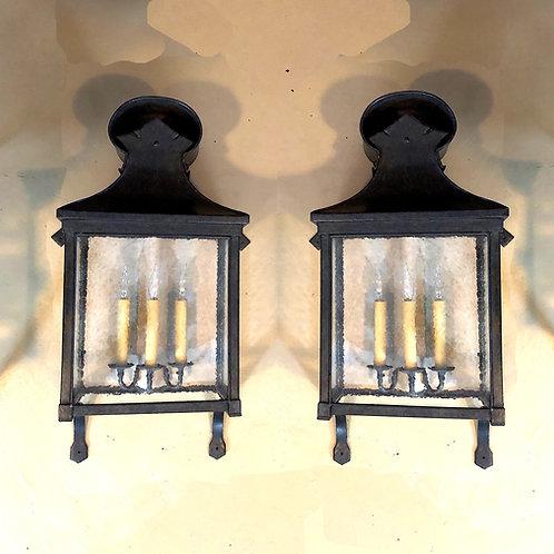 "SOLD: Dennis & Leen 32"" Carriage Wall Lantern - Pair"
