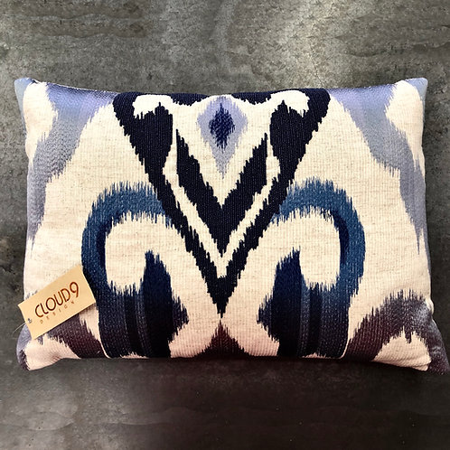 NEW - Embroidered, Beaded Ikat Lumbar Pillow By Cloud 9