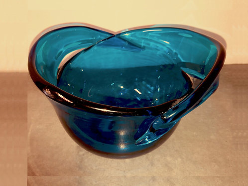SOLD: Blenko - Wayne Husted Designed Blown Glass Bowl