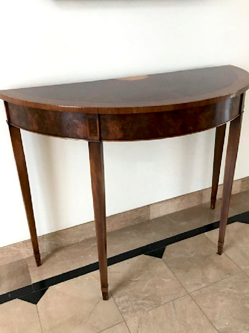 SOLD: Inlaid Hepplewhite Demilune Table