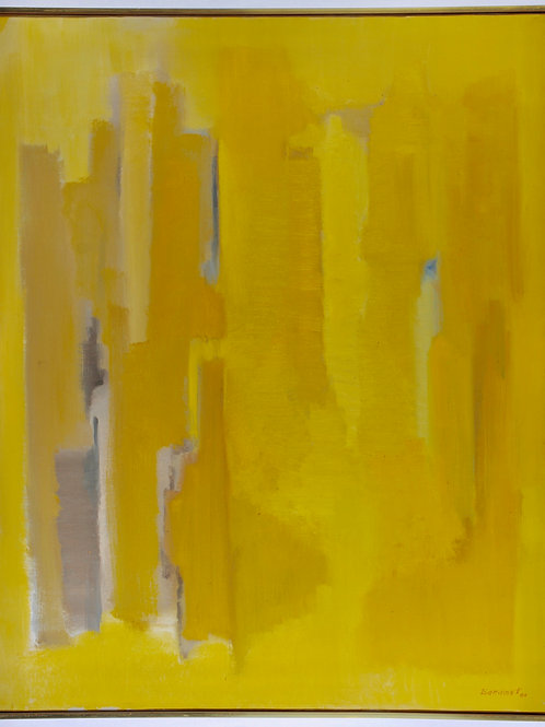 Robert Baranet LARGE Yellow Abstract