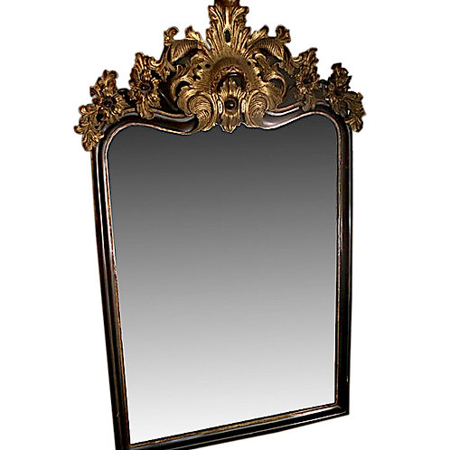 SOLD: Rococo Carved Wood & Gilt Mirror