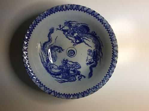 SALE: Chinese Transferware Dragon Bowls - Pair
