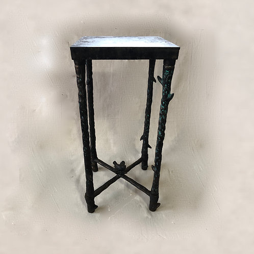 Giacometti Inspired Patinated Cast Metal Drinks Table