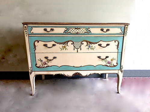 1920s Venetian Painted Dresser Commode