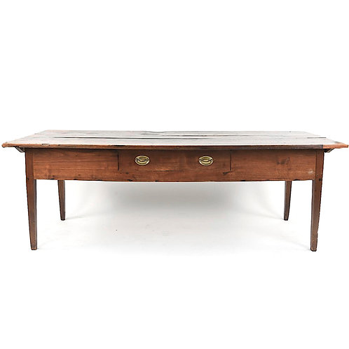 SOLD! Antique Farm Table with Center Drawer