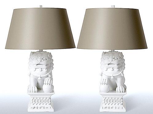 SOLD! Barbara Cosgrove Large Foo Lamps - PAIR