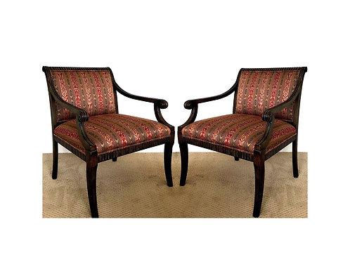 SALE: Vintage Regency Armchairs by Century Furniture - a Pair