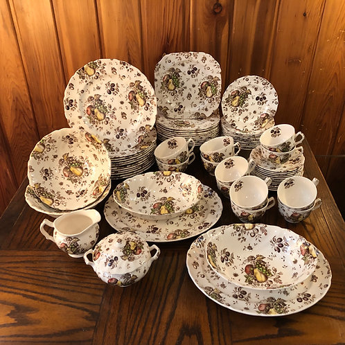 Johnson Brothers Autumn's Delight Transferware - Service ror 12, 68 Pieces