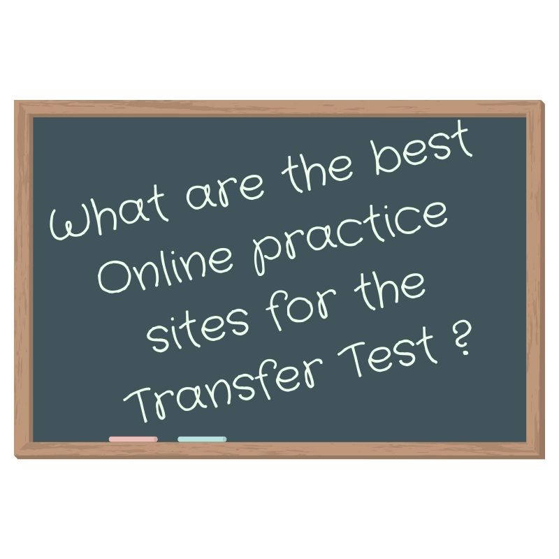 Black board about best transfer test online sites