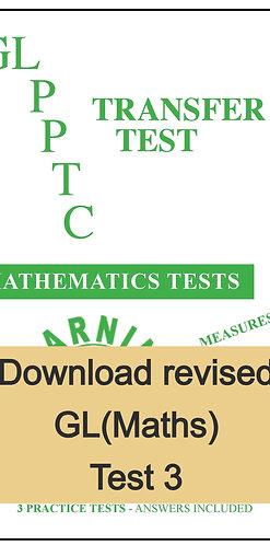 GL Maths Transfer Test 3