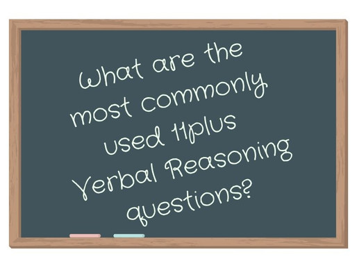 Most common 11plus Verbal Reasoning questions.