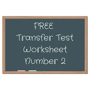 Free AQE and GL transfer test worksheet number 2