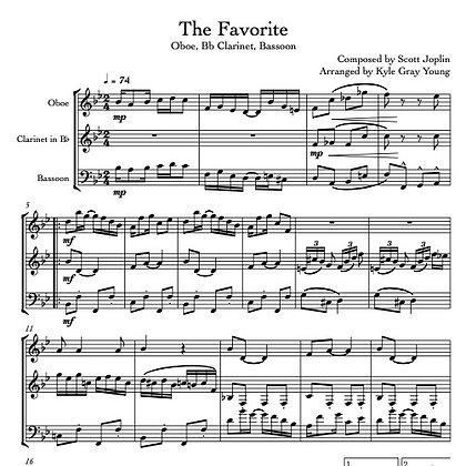 Joplin, Scott - The Favorite (Oboe, Bb Clarinet, Bassoon)