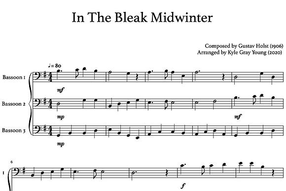 In The Bleak Midwinter (bassoon trio)