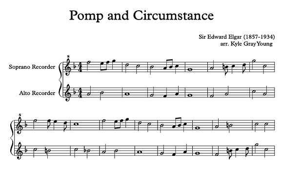 Pomp & Circumstance (recorder duet)