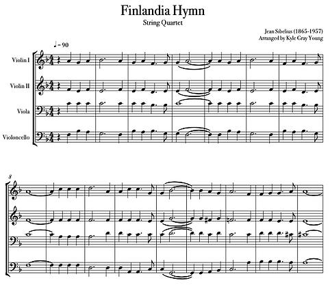 Finlandia Hymn (string quartet)