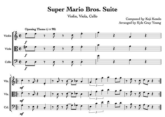 Super Mario Bros. Suite (Violin, Viola, Cello)