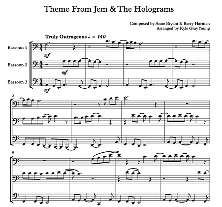 Theme from Jem & The Holograms (Bassoon trio)
