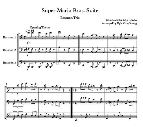 Super Mario Bros. Suite (bassoon trio)