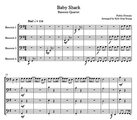 Baby Shark (Bassoon quartet)