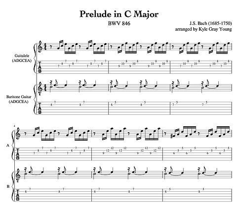 J.S. Bach - Prelude in C major, BWV 846 (guitalele & baritone guitar duet)