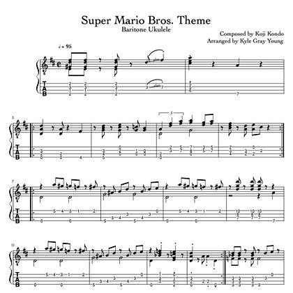 Super Mario Bros. Theme (baritone ukulele)