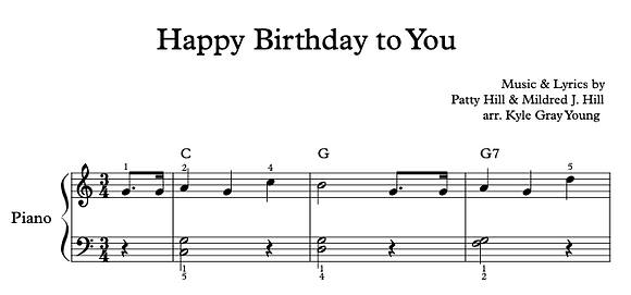 Happy Birthday To You (beginner piano solo)