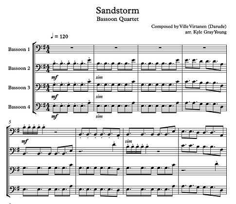 Darude - Sandstorm (Bassoon quartet)