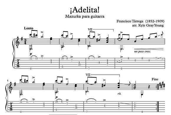 Francisco Tárrega - Adelita (solo guitar)
