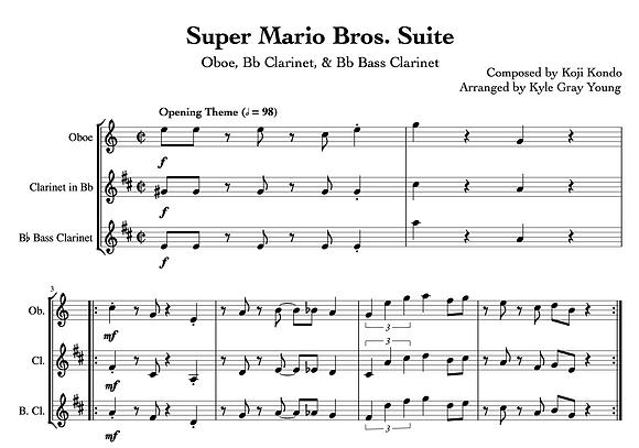 Super Mario Bros. Suite (Oboe, Bb Clarinet, Bb Bass Clarinet)
