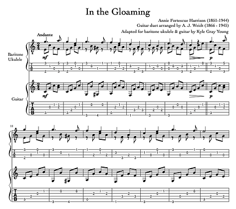 Harrison, Annie Fortescue - In The Gloaming (guitar & baritone ukulele duet)