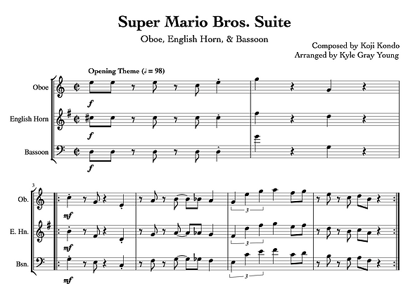 Super Mario Bros. Suite (Oboe, English Horn, Bassoon)