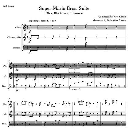 Super Mario Bros. Suite (Oboe, Bb Clarinet, Bassoon)