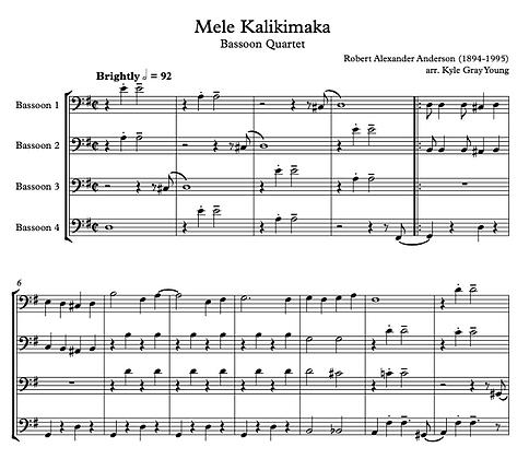 Mele Kalikimaka (Bassoon quartet)