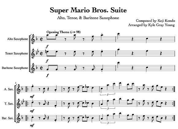 Super Mario Bros. Suite (Saxophone Trio)