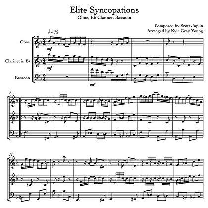 Joplin, Scott - Elite Syncopations (Oboe, Bb Clarinet, Bassoon)