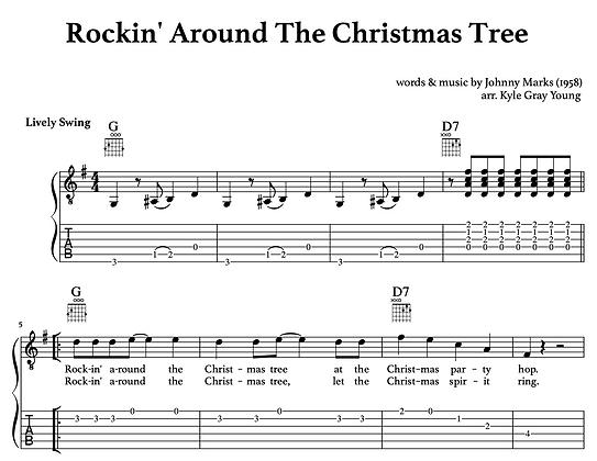 Rockin' Around The Christmas Tree (guitar tablature)