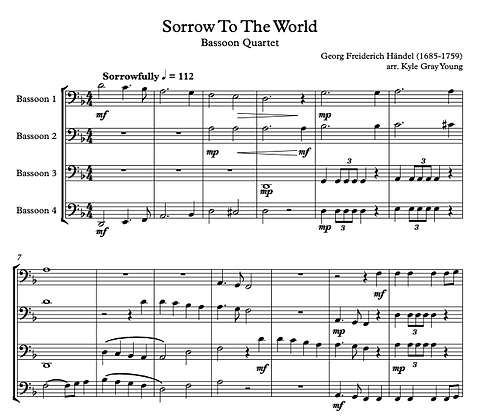 Sorrow To The World (Bassoon quartet)