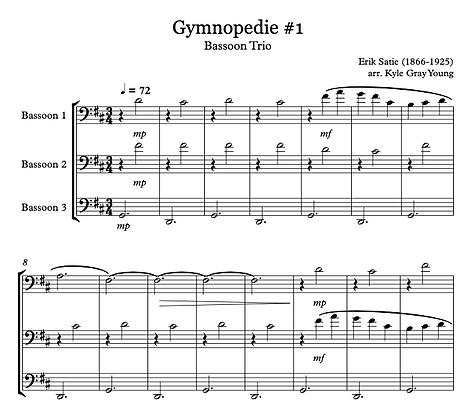 Erik Satie - Gymnopedie 1 (Bassoon trio)