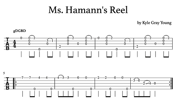 Kyle Gray Young - Ms. Hamann's Reel (clawhammer banjo solo)