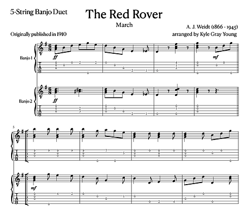 A.J. Weidt - The Red Rover (5-string banjo duet)