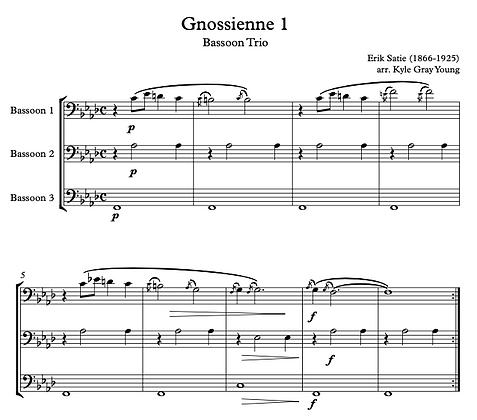 Erik Satie - Gnossienne 1 (Bassoon trio)
