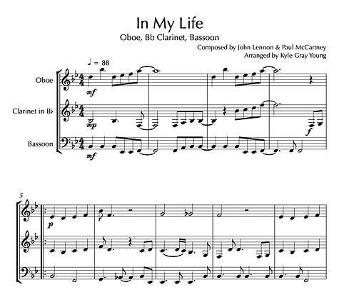 Beatles - In My Life (Oboe, Bb Clarinet, Bassoon)