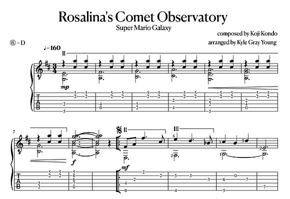 Super Mario Galaxy - Rosalina's Comet Observatory (classical guitar solo)