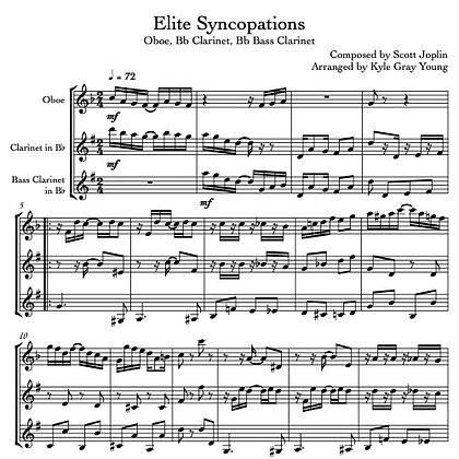 Joplin, Scott - Elite Syncopations (Oboe, Bb Clarinet, Bass Clarinet)