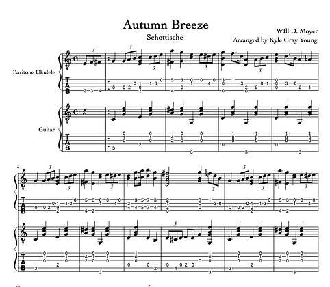 Moyer, Will D. - Autumn Breeze (guitar & baritone ukulele duet)