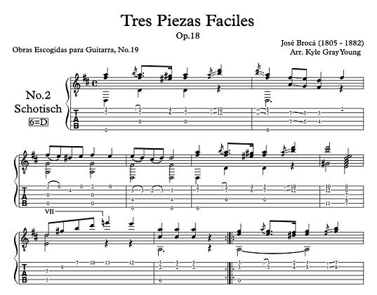 José Brocá - Op.18 Tres Piezas Facile, No.2 Schotisch (solo guitar)